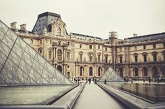 The Louvre Museum, Paris! It's so big that you barely have time to look through everything inside! Crazy!