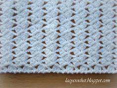 Free Crochet Pattern:  Lacy Crochet: Lacy Braids Baby Blanket