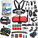 #10: SmilePowo Replace GOPRO Camera Accessory for GoPro Hero65 Black Hero SessionHero543321SessionAKASOSJCAMDBPOWERSports Action CameraAccessories Kit#cameras #photoaccessories #amazon #movers #shakers