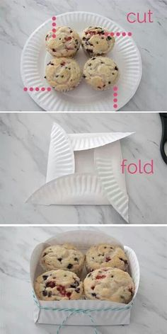 Easy, inexpensive way to package cupcakes, muffins etc.