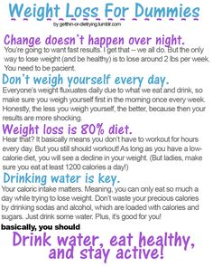 weight loss for dummies