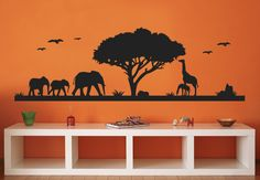 want to do this in my room!!!!african savannah with tree - Google Search