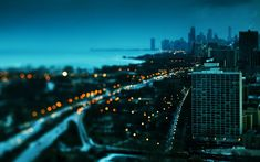 HD wallpaper: high-rise concrete building, depth of field, cityscape, bokeh New Wallpaper Hd, City Wallpaper, Tumblr Wallpaper, Wallpapers, Wallpaper Downloads, Chicago Lake, Chicago City, Architecture Wallpaper, Night City