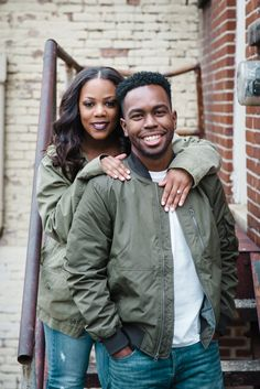 Urban and Sophisticated Engagement Session in Downtown Huntsville, Alabama: Darylynn + Thomas