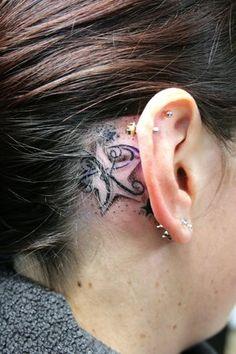 Star Tattoo behind the ear ii like this