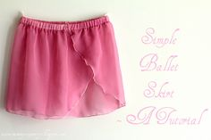 This is great; ballet gear costs WAY more than it should based on materials. | mommy sew pretty: Simple Ballet Skirt- A tutorial