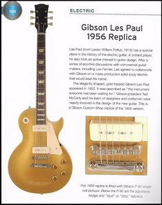 The 1956 Gibson Les Paul Gold Top Replica guitar history article + 1991 - Vintage guitars Les Paul Gold Top, 1959 Gibson Les Paul, Metal Meme, Fender American Standard, Guitar Reviews, Leo Fender, History Articles, Music Machine, Les Paul Guitars