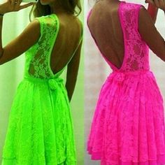 Neon Short Wedding Dresses