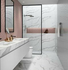 Idées Salle de Bain Modern minimalist bathroom design ideas for your home. See more by clicking on the image. Bathroom Tile Designs, Modern Bathroom Design, Bathroom Interior Design, Bathroom Ideas, Bath Design, Shower Ideas, Modern Design, Modern Bathrooms, Small Bathrooms