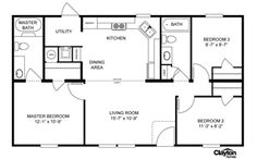 The simplicity of this floor plan but 1800-2000 sq ft stick built home.