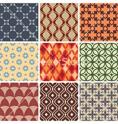 Seamless ornament patterns vector - by tiax on VectorStock®