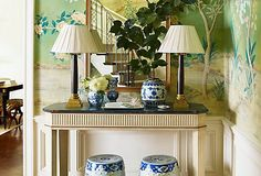 EYE ON THE EAST  An iconic style for centuries, chinoiserie is still a straight line to chic. From textiles to ceramics, Asian-inspired vintage finds set a sophisticated, worldly scene in seconds.