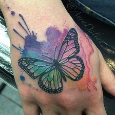 """Aura Dalian on Twitter: """"#watercolor #Butterfly #tattoo ..."""