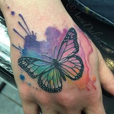 "Aura Dalian on Twitter: ""#watercolor #Butterfly #tattoo ..."