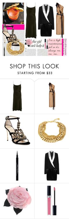 """The Other Woman"" by osmianannya ❤ liked on Polyvore featuring Protagonist, Dion Lee, Givenchy, Lanvin, Oris, Jennifer Lopez, Chanel, Christian Dior, dress and shoes"
