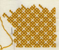Medieval Arts & Crafts: brick stitch