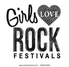 rock slogan graphic for t-shirt