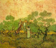 Olive Picking 1889  Vincent van Gogh