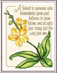 Orchid for a Friend - Inspirational cross stitch pattern designed by Ursula Michael. Category: Flowers.