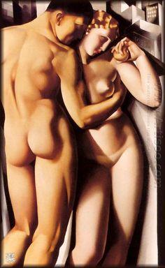 """No.6 """"Adam And Eve""""  Tamara de Lempicka"""