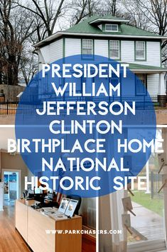President William Jefferson Clinton Birthplace Home National Historic Site - one of the national parks in Arkansas.  The site commemorates the birth and early years of our 42nd president at his grandparents home in Hope, Arkansas. National Park Passport, National Parks, Hope Arkansas, William Jefferson, Number Flashcards, Old Farm Houses, Family Road Trips, Park Service, Historic Homes
