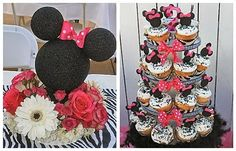 minnie mouse out of spray painted styrofoam! genius!