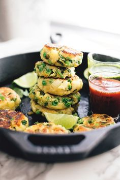 Vegan Aloo Tikki - Spiced Potato Patties with Homemade Coriander Chutney. A Vegan and Gluten Free version of a delicious Indian street snack.