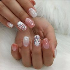 Summer Pink Nails Give Light, almost no smell we only apply organic texture to protect your health. Sexy Nail Art, Sexy Nails, Cute Nails, Pretty Nails, Red Sparkly Nails, Pink Glitter Nails, Glitter Art, Silver Glitter, White Nail Designs