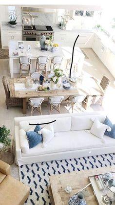 85 Best Of Living Room Design Layout Decoration Ideas Living Room Kitchen, Home Living Room, Interior Design Living Room, Living Room Designs, Living Room Decor, Coastal Living Rooms, Küchen Design, House Design, Warm Home Decor