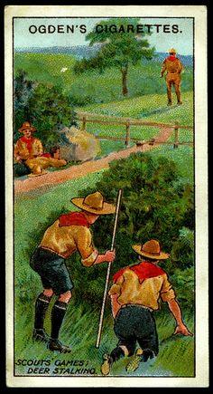 "Cigarette Card ~ Boy Scouts ""Deer Stalking"" by cigcardpix, via Flickr"