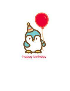 Penguin Birthday Card