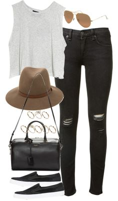Black fedora outfit, fedora hat, outfits with hats, cute outfits, casual outfits Outfits With Hats, Casual Outfits, Cute Outfits, Black Fedora Outfit, Fedora Hat, Look Fashion, Fashion Outfits, Womens Fashion, Fashion Quiz