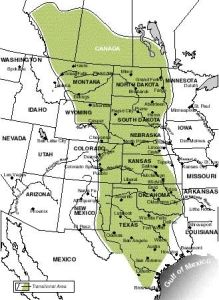 Map Of The Area Covered By The Great Plains Gold Rush Days - Us map the great plains