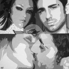 1-ritratti-foto-popart-pop-art-dipinto-a-mano-idea-regalo-quadro-coppia-fidanzamento-testimoni-nozze-sposi-matrimonio-bacio-azzumail