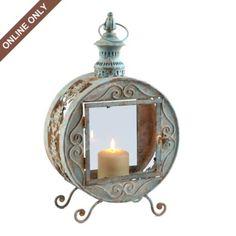 Distressed Metal Round Lantern
