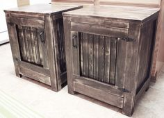 DIY ~~Building A Pair Of Knock-Off Restoration Hardware Nightstands | The House of Wood
