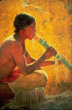 beautiful native american art | fallen branch flute art 7