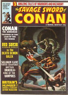 The Savage Sword of Conan. Vol. 1, No. 24. U.K. Marvel Comic. Oct. 1979.