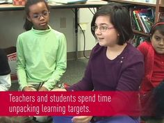"""Students Unpack a Learning Target by Expeditionary Learning. 4th and 5th graders in Jason Shiroff's class at the Odyssey School in Denver, Colorado, actively engage in """"unpacking"""" learning targets so that they are able to articulate a clear vision of the intended learning as a first step toward achieving success."""