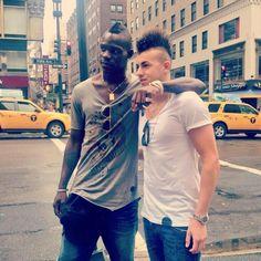 Mario Balotelli and Stephan El Shaarawy in NY