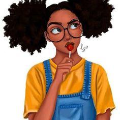 Five 60 Second Hairstyles Art Black Love, Black Girl Art, My Black Is Beautiful, Black Girls Rock, Art Afro Au Naturel, Drawings Of Black Girls, Black Girl Cartoon, Natural Hair Art, Black Art Pictures