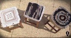Copri sgabelli realizzati all'uncinetto - Crochet stool cover - di ELISABETOWN #stool #cover #copri #sgabello #uncinetto #crochet #home #vintage #casa #arredo #cotton #fabric #handmade #unico