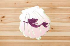 The Little Mermaid Fancy Premium Invitation Handmade and Custom Design. Made with Glitter Cardstock, Textured Cardstock, Premium Cardstock by Inkspireve on Etsy