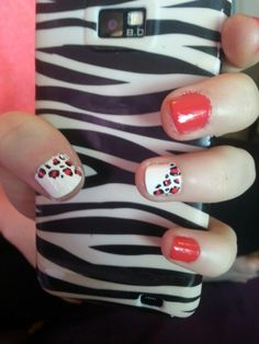I did my friends nails design I found here in pinterest