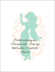 Walt+Disney+Princess+Jasmine+Print+by+TinyTomatoInc+on+Etsy,+$8.00