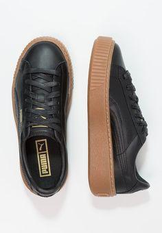 Puma BASKET PLATFORM CORE - Sneakers laag - black - Zalando.be
