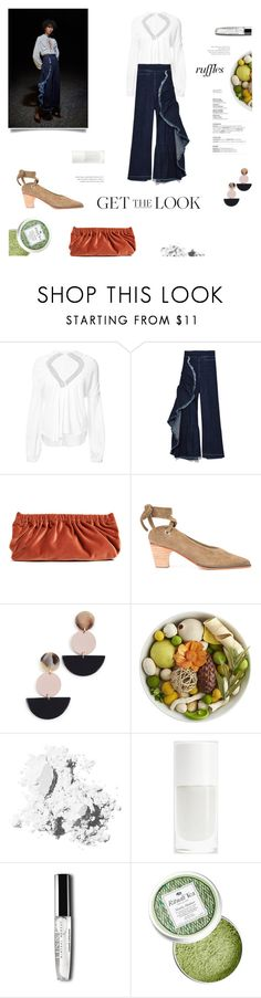 """""""Message: relax!"""" by gabrielleleroy ❤ liked on Polyvore featuring Rachel Comey, Pier 1 Imports, Bobbi Brown Cosmetics, ruffles and RuffLyfe"""