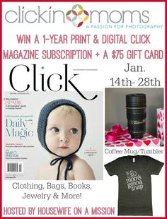 Welcome to the Clickin Moms Giveaway hosted by Housewife on a Mission and sponsored by Clickin Moms! About Clickin Moms: Clickin Moms is a members-only community of over 16,000 photographers...