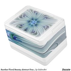 Another Floral Beauty, abstract Fractal Art Drink Cooler