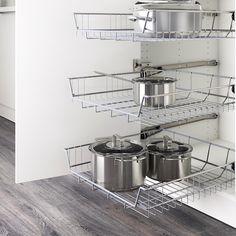 Ikea Kitchen Organization, Ikea Kitchen Cabinets, Diy Kitchen Storage, Kitchen Shelves, Organization Ideas, Ikea Kitchen Drawers, Medicine Organization, Kitchen Walls, Food Storage